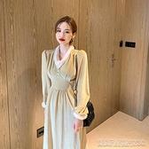 晚禮服秋冬季新款女法式平時可穿金絲絨長裙會氣質禮服連身裙子【凱斯盾】