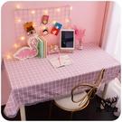 桌布防油防水書桌可愛寢室粉色化妝臺書桌墊座【古怪舍】