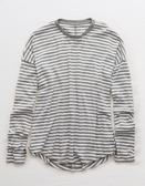 (BJGO) AMERICAN EAGLE_AERIE STRIPED TEE 條紋圓領T恤
