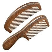木梳子天然黑金檀木防靜電脫發按摩梳子 強勢回歸 降價三天