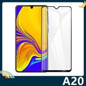三星 Galaxy A20 全屏弧面滿版鋼化膜 3D曲面玻璃貼 高清原色 防刮耐磨 防爆抗汙 螢幕保護貼