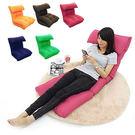 椅背可五段式調整,攤平就成為簡易沙發床