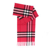 【BURBERRY】基本款經典格紋喀什米爾圍巾(紫粉紅)3895093 FUCSIA PINK