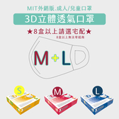 【4盒免運】美國 Easy-O-Fit 3D透氣3層拋棄式口罩(M) 30片/盒 【瑞昌藥局】017247 外銷款