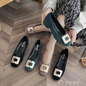 大碼女鞋大碼女鞋41一43黑色單鞋新款百搭粗跟高跟鞋腳寬胖妹妹4042 多色小屋