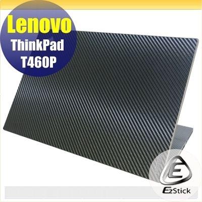 【Ezstick】Lenovo T460P 指紋機 專用 黑色立體紋機身貼 (上蓋貼、鍵盤週圍貼)DIY包膜