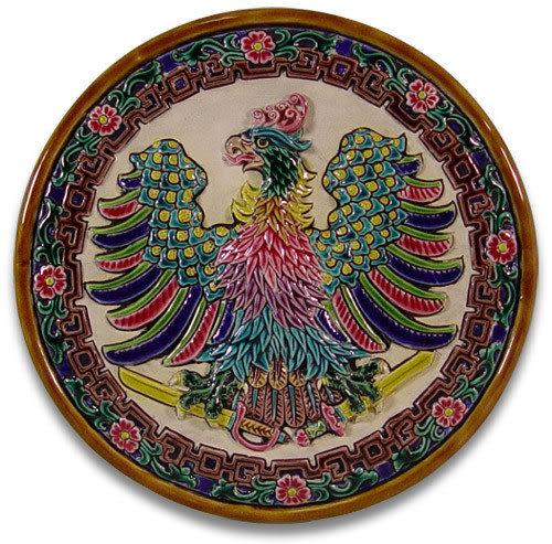 鹿港窯-交趾陶居家開運裝飾壁飾~L鴻圖大展