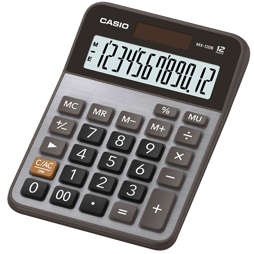 CASIO卡西歐12位桌上雙電源大螢幕計算機 MX-120B