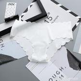 3條裝波浪邊性感內褲女冰絲面料純棉襠超薄透氣無痕女士三角褲頭     蜜拉貝爾