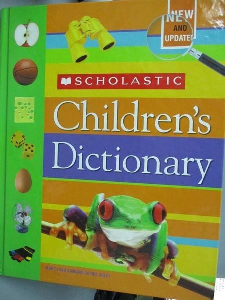 【書寶二手書T2/兒童文學_ZES】Scholastic Children s Dictionary_Not Avail