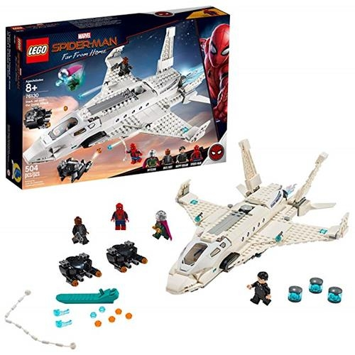 LEGO 樂高 Marvel Spider-Man Far From Home: Stark Jet and the Drone Attack 76130 Building Kit (504 Piece)