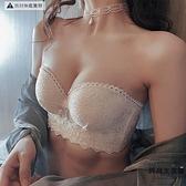 無肩帶內衣女聚攏小胸防滑胸罩bra防下垂文胸套裝