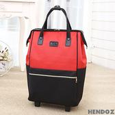 拉桿袋-HENDOZ.悠閒大容量造型旅行拉桿袋(共三色)0306-1