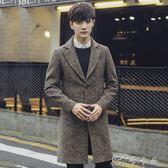 風衣男春季中長款大衣男韓版青年帥氣修身薄款男士外套潮 卡卡西