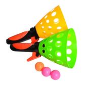 兒童對接發射球雙人彈射接球器親子戶外運動拋接球乒乓彈彈球玩具