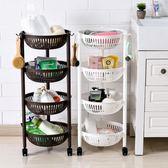 廚房多層蔬菜置物架落地收納架塑料收納筐儲物架三角架菜架【格林世家】