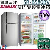 【新莊信源】580公升【三洋SANLUX變頻雙門電冰箱】SR-B580BV