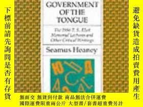 二手書博民逛書店Government罕見of the Tongue28384 S
