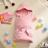 義大利Fancy Belle《斯卡線曲-粉》色坊針織兒童包巾兩用被(90*90CM)