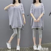孕婦夏裝洋裝2020時尚潮媽中長款孕婦兩件套裝孕婦裝夏天裙子 全館鉅惠