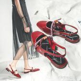 平底涼鞋小ck女鞋新款涼鞋女夏溫柔仙女包頭單鞋平底後空瑪麗珍奶奶鞋多莉絲旗艦店