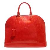 LOUIS VUITTON LV 路易威登 紅色漆皮手提包 Alma GM M93596 艾瑪包【BRAND OFF】