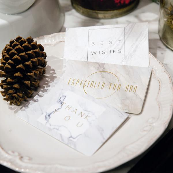 【BlueCat】燙金大理石紋 特別為你祝福賀卡