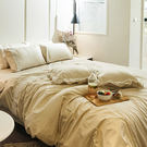床包被套組 / 單人-獨家布蕾絲【歐姆布蕾】含一件枕套,100%精梳棉,在巴黎遇見,戀家小舖