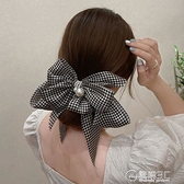 高端復古大蝴蝶結頭飾發夾后腦勺彈簧夾夏季網紅發卡女2021年新款 電購3C