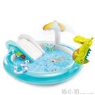兒童充氣游泳池家庭大型號海洋球池沙池家用寶寶噴水戲水池 喵小姐