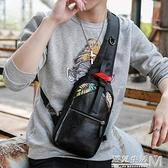 新款韓版男包斜背包休閒潮流情侶胸包學生背包商務旅行時尚單肩包 聖誕節全館免運