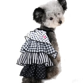 【PET PARADISE 寵物精品】Pretty Boutique 黑色點點蛋糕裙(S) 狗衣服 寵物用品 寵物衣服
