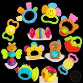 彌月禮盒組 匯樂嬰兒玩具0-1歲新生兒牙膠兒童早教益智搖鈴組合安撫12只禮盒 ~黑色地帶