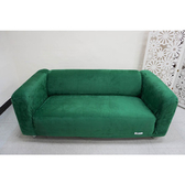 【Osun】厚棉絨溫暖柔順-4人座一體成型防蹣彈性沙發套墨綠色