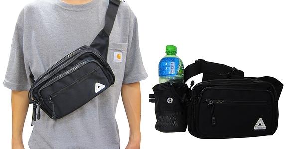~雪黛屋~PALACE 腰包大容量二層主袋+外袋共五層隱藏水瓶外袋層腰包胸前包防水尼龍布SPW9315