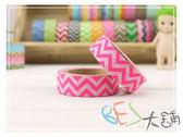 紙膠帶-和紙膠帶上下波紋 粉紅色