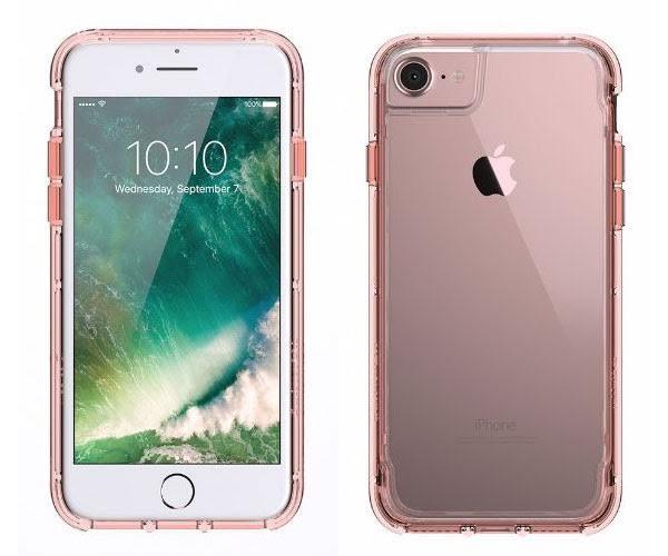 【漢博】Griffin Survivor Clear iPhone 7軍規防摔殼 - 玫瑰金邊框