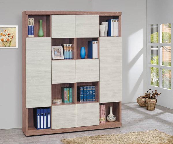 【森可家居】雪杉白雙色隔間書櫃(右向) 8SB234-4 無印北歐風 書櫥 木紋質感 MIT台灣製造