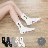 韓國襪子 小熊軟糖中筒襪【K0616】