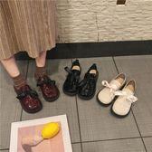 娃娃鞋-單鞋女春新款平底復古小皮鞋日繫原宿百搭圓頭娃娃鞋 花間公主