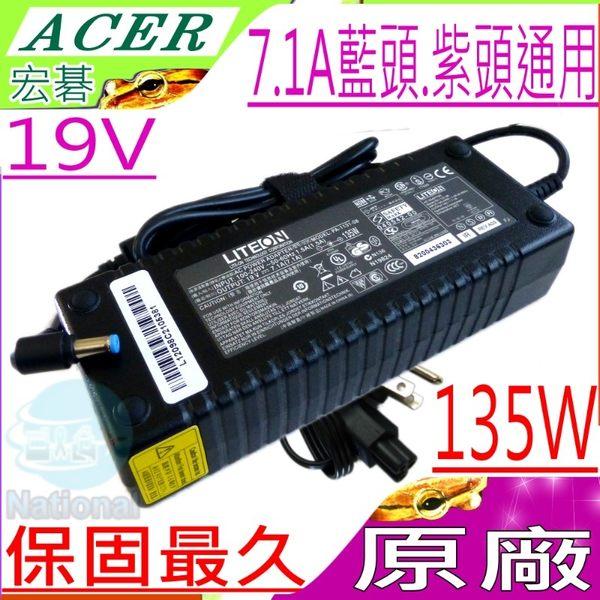 ACER 19V,7.1A, 135W 充電器(原廠)-宏碁 V5-591G,V5-592G,T5000-73CF,VN7-591G,VN7-791G,VN7-592G,VN7-792G
