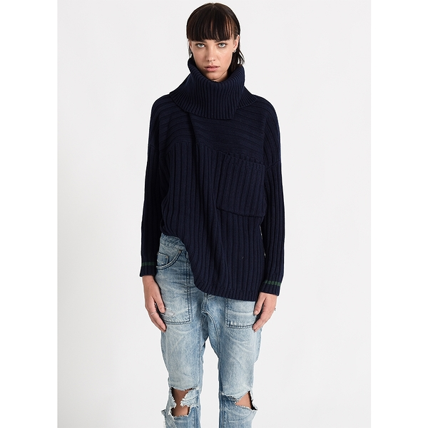 OneTeaspoon 針織上衣 OXFORD ROLL NECK SWEATER-深藍(女)