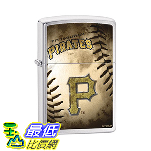 [美國直購] Zippo MLB Pittsburgh Pirates Brushed Chrome Lighter 打火機