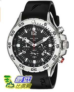 [美國直購] Nautica Men's N14536 NST Stainless Steel Watch 手錶 with Black Resin Ban