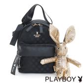 PLAYBOY- 2WAY小後背包 Gift 獻禮系列-優雅黑