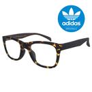 【adidas 愛迪達】經典三葉草LOGO方框琥珀色光學眼鏡-鼻托防滑設計(0040-148-009)