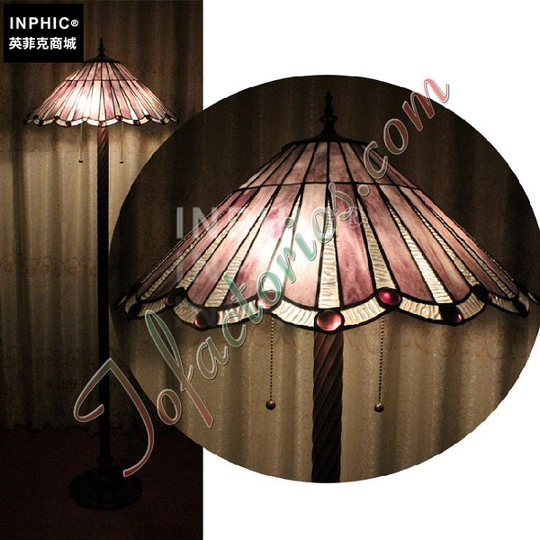INPHIC-訂製歐式簡約深暗紫色玻璃燈罩手工落地燈酒吧咖啡廳燈燈具_S2626C