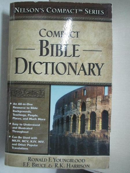 【書寶二手書T1/字典_GI8】Bible Dictionary: Compact_Youngblood