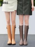 MAIYU 輕量簡約時尚雨鞋女成人雨靴防水高筒水靴防滑膠鞋女士水鞋 瑪麗蘇