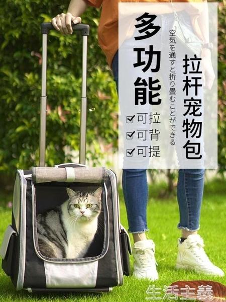 寵物包 大號貓包透氣雙肩大容量兩只便攜帶背包冬天貓咪外出包寵物拉桿箱 MKS生活主義